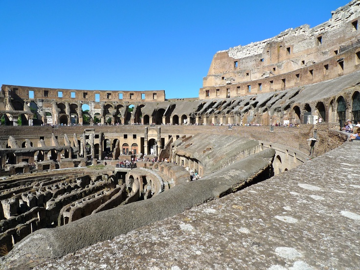 Inside the Colosseum, Rome, Italy
