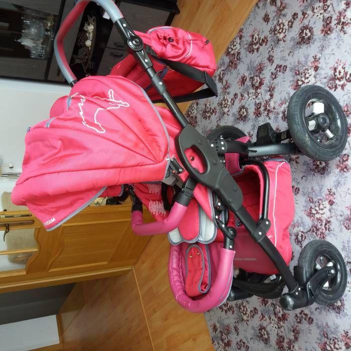 Prodám kočárek pro holčičku TAKO CAPTIVA v růžovo-šedé barvě z bazaru za 3900 Kč | Dětský bazar.cz
