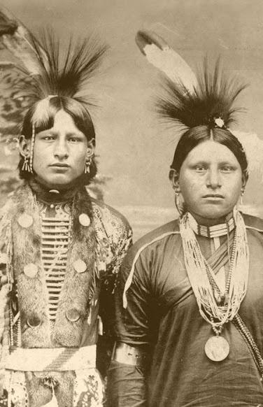 Frank Corndropper, Paul Buffalo - Osage – 1895