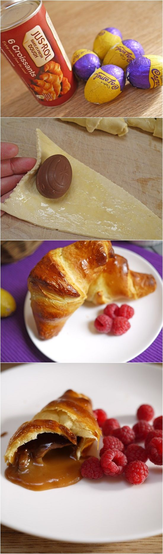 Caramel Cadbury Easter Egg Croissants!!  Freakin' Delicious and Unbelievably Easy!!