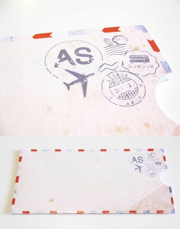 Air mail envelopes // wedding invitation www.inlove.pt