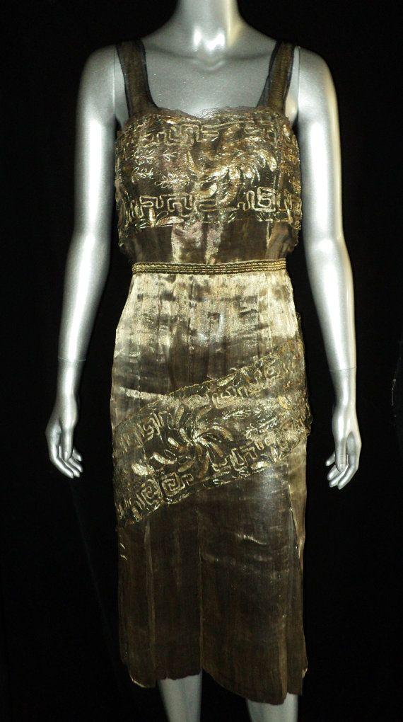 1920s Lame Flapper Dress
