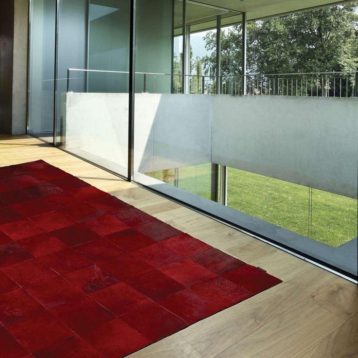 Tapis de luxe en cuir rouge Starless par Angelo. Tapis d'une qualité incomparable. #déco #décoration #rouge #tapis #deco #design #luxe