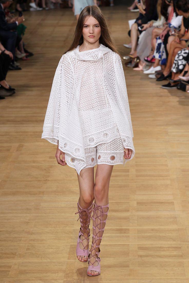 Spring Trend: Eyelets, fashion week, Chloé SS15/Garance Doré