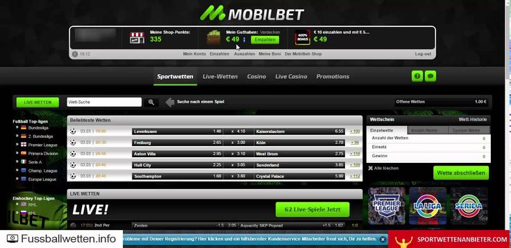 mobilbet Erfahrungen - Test von fussballwetten.info + sportwettenanbiete...