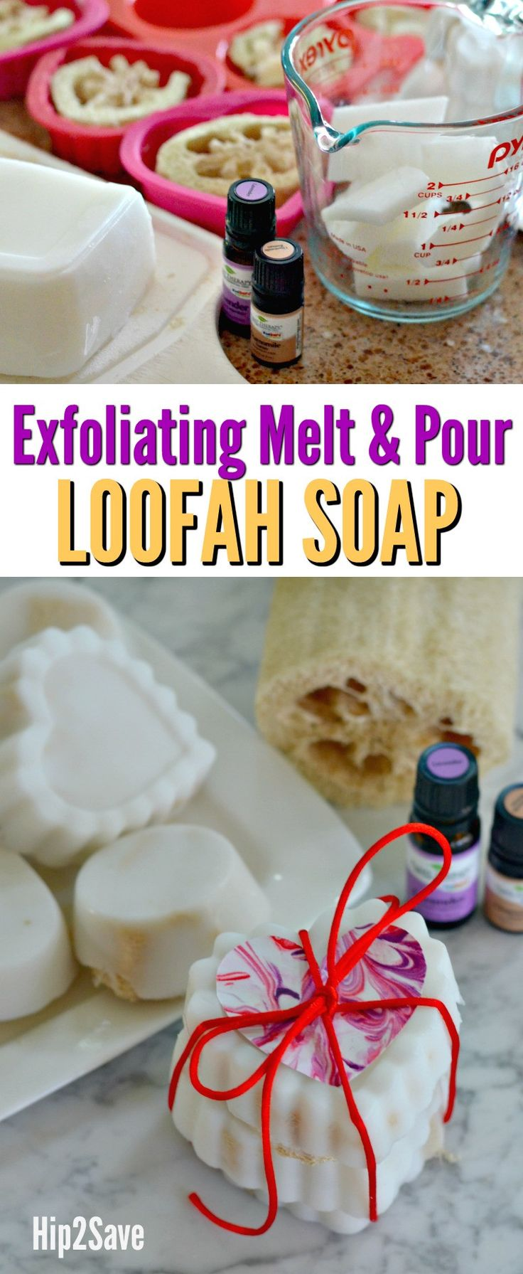 DIY Melt and Pour Exfoliating Loofah Soaps (Easier Than