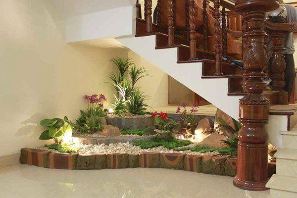 Resultado de imagen para jardin bajo escaleras cositas for Escaleras de adorno
