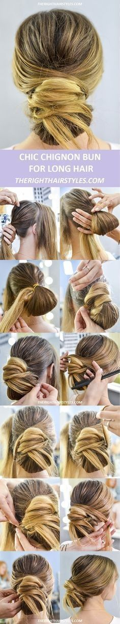 #Bun #Easy #Easy Hairstyles vintage #einfache #faule #Frisuren,  #Bun #Easy #Einfache #faule ...