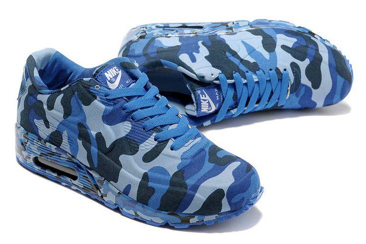 Nike Air Max 90 VT Vrouwen Blauw Wit