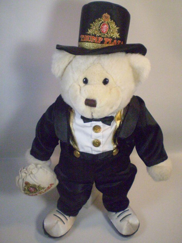 Donald Trump Plaza Casino Teddy Bear Plush Tuxedo RARE ...