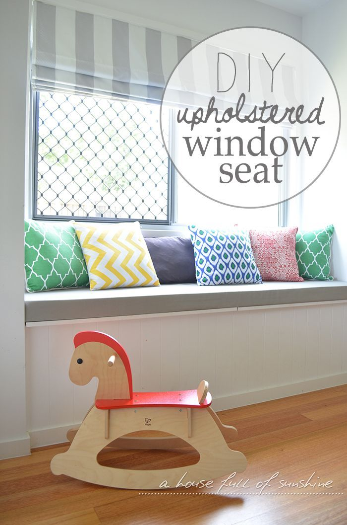 DIY Upholstered Window Seat: Learn to make your own window seat cushion and save a ton of money!