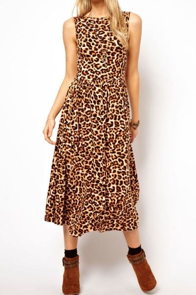 Oasap leopard maxi dress ($16!)