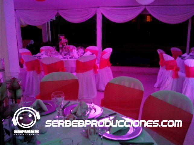 Iluminación en Led Decoración Mandarina con Blanco  Sí deseas ver todas las fotos de esta decoración, haz clic en el siguiente enlace http://serbebproducciones.com/index.php/decoraciones-de-eventos/decoraciones-para-bodas/48-decoracion-boda-mandarina-con-blanco/198-arbol-de-los-deseos.html