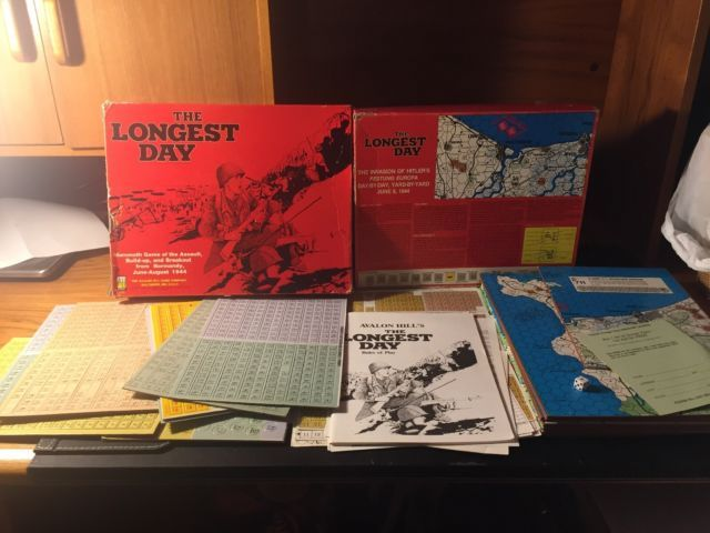 Vintage Avalon Hill WWII The Longest Day 1979 Unpunched w/ Box not great shape | eBay