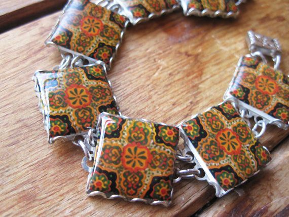 Mexican bracelet Southwestern tile pattern Mexican by CorinaCrooks, $55.00