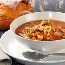 Soupe aux tomates et aux légumes