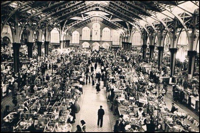 Mercado Central.interior. Años 40 / vintage photography / Valencia