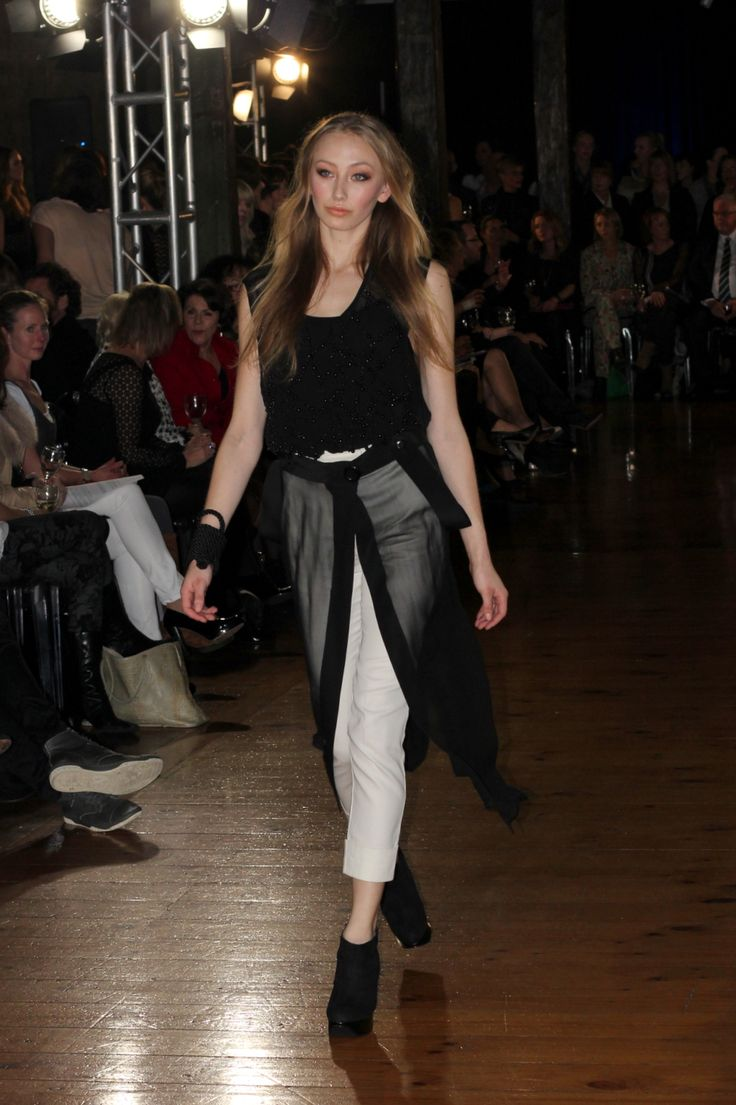 taylor 'Incision' collection SS13 -Beaded Serpentine Top and Identify Wrap and Cogent Pants. Photo by FOUREYES