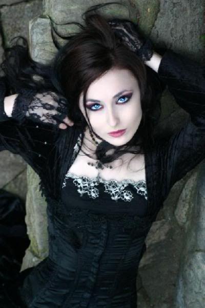 Gothic beauty ... love dark hair with blue eyes