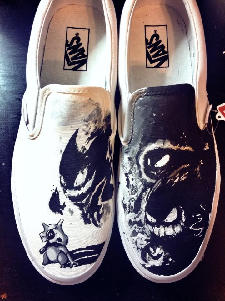 Cubone Haunter Ghastly and Gengar Custom Vans by Kyg0n.deviantart.com on @deviantART