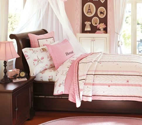 Larkin Sleigh Bed | Pottery Barn Kids.  This bedroom would be for my little ballerina.