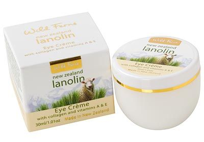 Lanolin Daily Eye Cream with Collagen and Vitamins A and E - Wild Ferns - 30ml | Shop New Zealand. NZ$13.90
