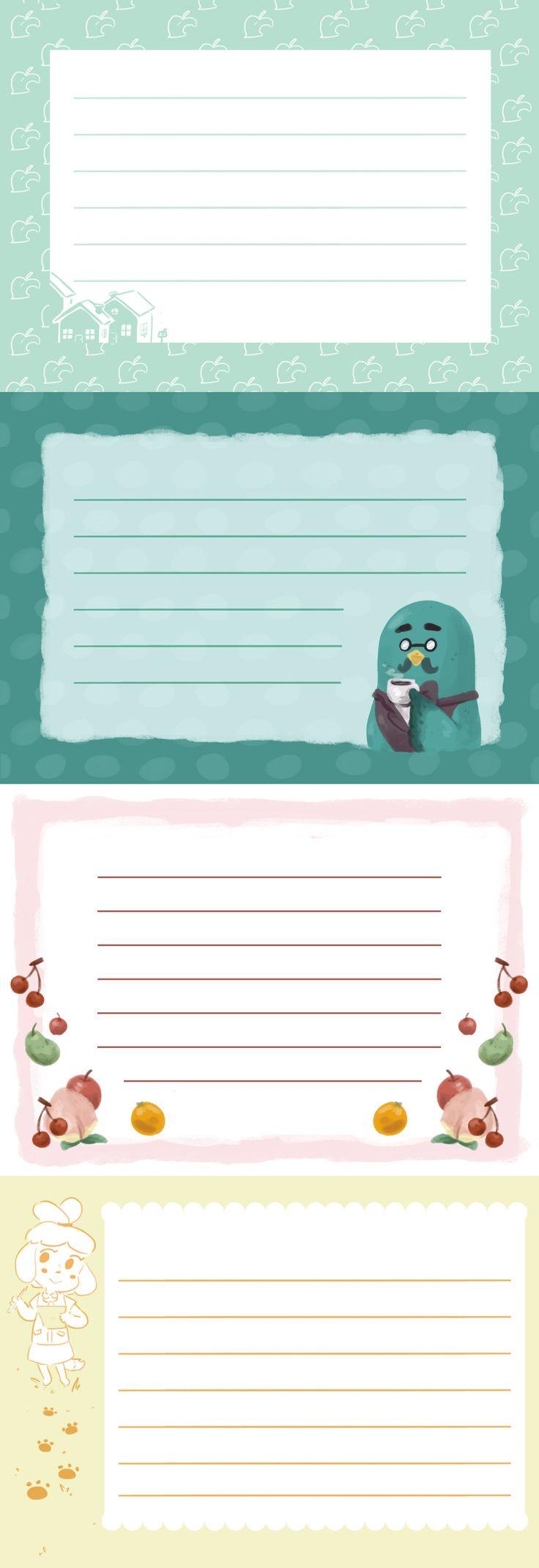 Animal Crossing themed Stationery.
