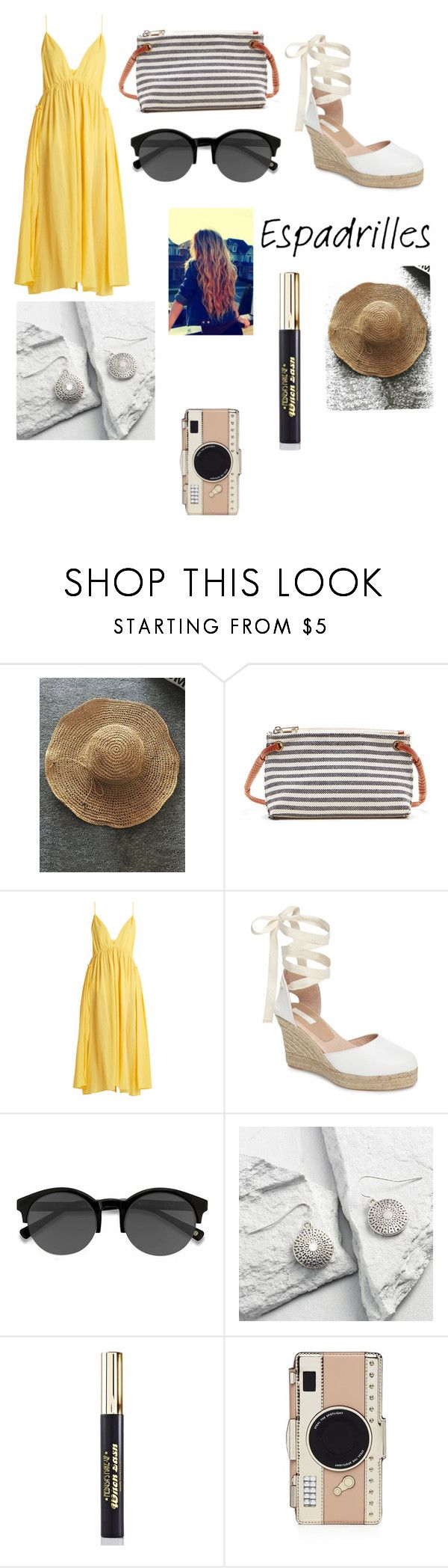 """""""Espadrilles Summer Contest"""" by alinagomez1221 ❤ liked on Polyvore featuring Sole Society, Loup Charmant, Topshop, EyeBuyDirect.com, Cost Plus World Market, Medusa's Makeup and Kate Spade"""