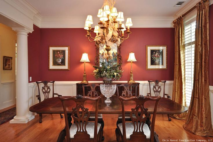 We Love The Red Accent Wall In This Dining Room! It Never