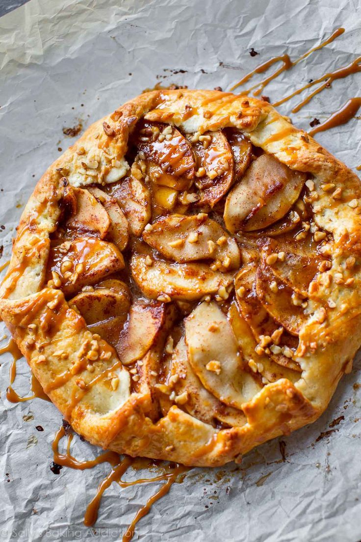 As delicious and impressive as pie, but half the work! This salted caramel apple galette is the easiest Fall dessert.