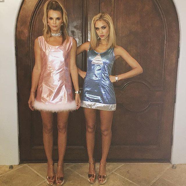 Jessica Alba Wearing Romy and Michele Costume 2015 | POPSUGAR Celebrity