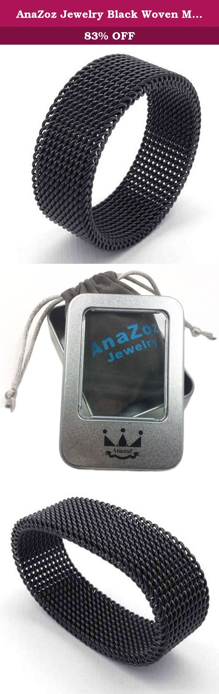 AnaZoz Jewelry Black Woven Mesh Band 8MM Stainless Steel Screen Mens Womens Ring Size 11. Why Choose Stainless steel Material? Stainless steel is best known as the material used to make surgical instruments, building and bridge supports, hot water heaters, microwave oven liners and other objects where strength and safety.