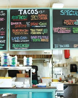 White Duck Taco Shop: This former chicken hatchery overlooking the French Broad River stuffs everything from banh mi tofu to mole roasted duck confit into its tortillas. 1 Roberts Street    1 Roberts Street
