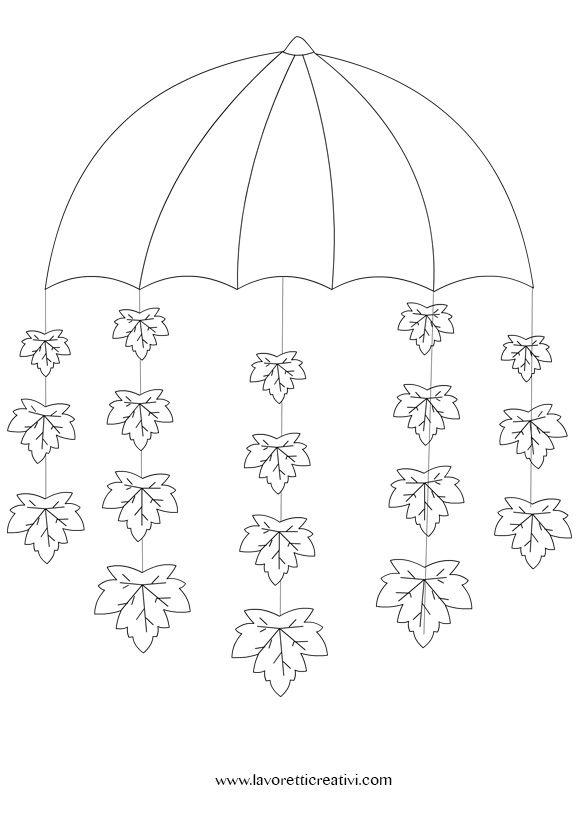 lavoretti-autunno-ombrello