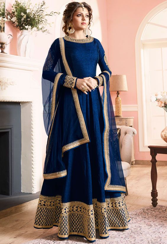 Drashti Dhami Navy Blue #Anarkali #Suit