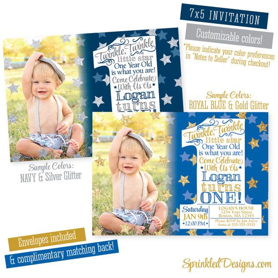 Twinkle Little Star First Birthday Boy By SprinkledDesign On Etsy