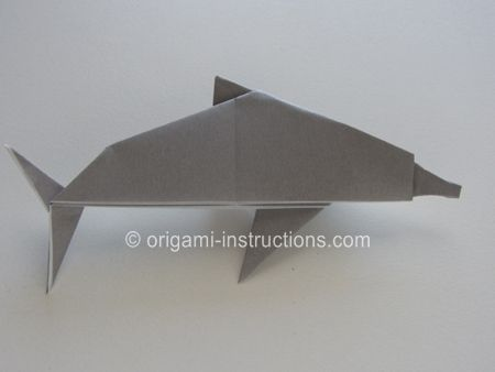Step by step instructions on how to make an origami dolphin!