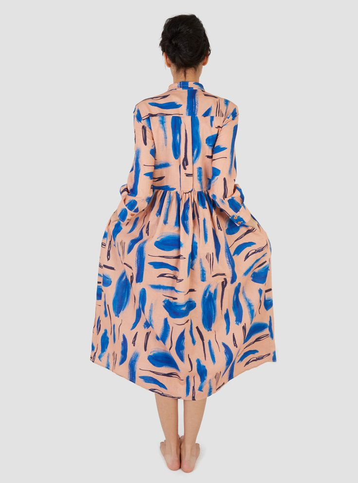 Lenny Dress Strokes Print