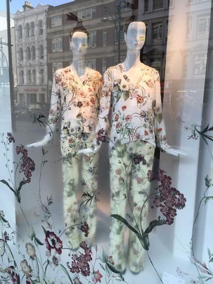 """ZARA,Oxford Street,London,UK,""""Floral Motifs"""", pinned by Ton van der Veer"""