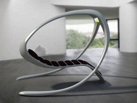 Futuristic concept lounge chair with built-in TV.  / TechNews24h.com #technews24h
