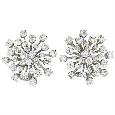 Classic 4.80ctw Diamond Gold Cocktail Earrings