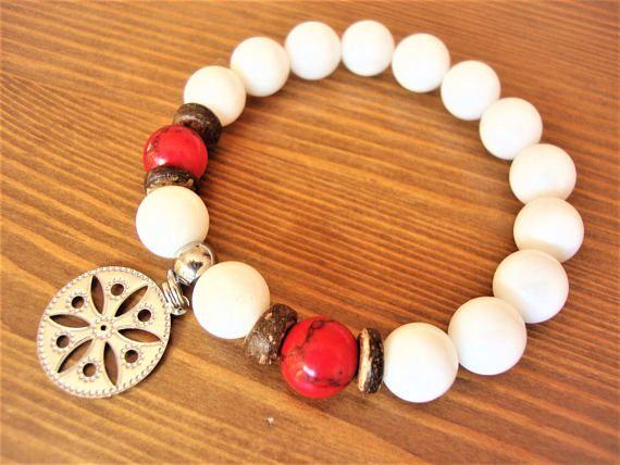 Charm Bracelet  Gemstone Bracelet Gift  Moonstone Bracelet