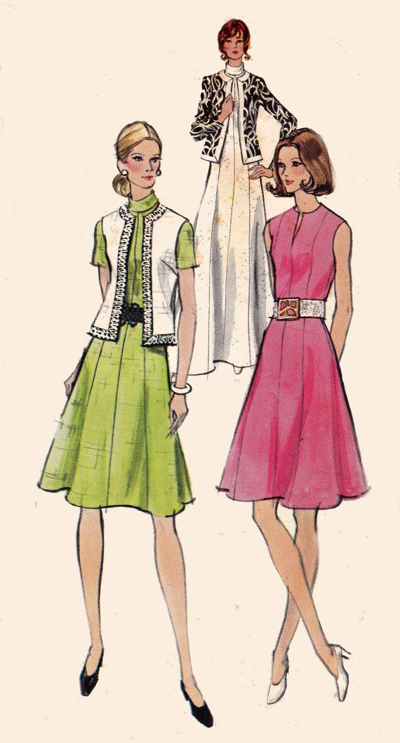 1960s Vintage Sewing Pattern Vogue 8274 by allthepreciousthings, $8.00