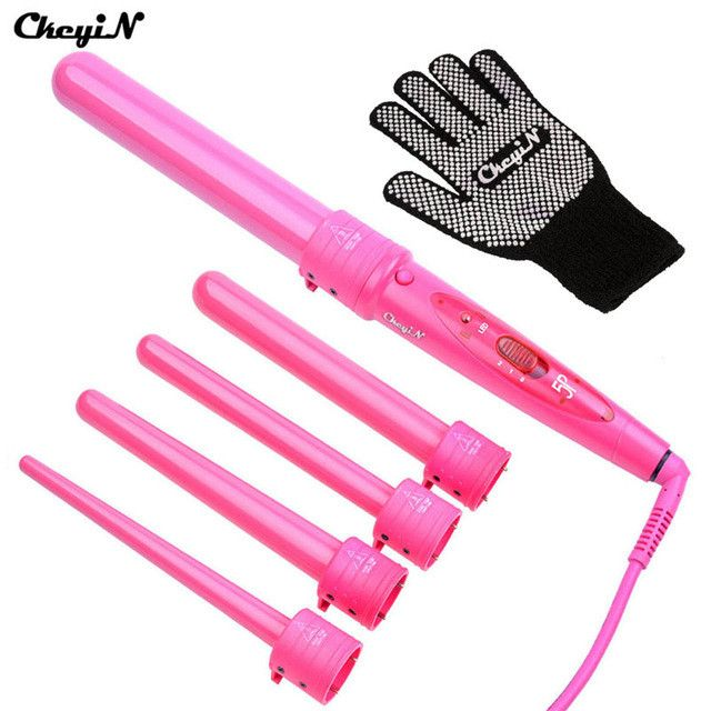 Hair styling tool 09-32mm 5 in 1 Curling Wand 5pcs curling tongs cone curling Iron Electric Hair Curlers Rollers Gift Set 4849