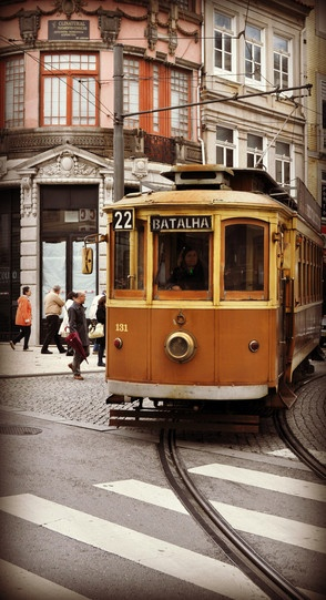 "Photo: Tram Electrico 22 18 Porto | Visit Porto Travel Guide - via European Consumers Choice, August 2012 | Porto is exceptional. In more ways than one. Elected Best European Destination 2012 by the european citizens, Porto, the ""Cidade Invicta"" (unvanquished city) is history, is architecture, culture, gastronomy, trade, encounters and discoveries... #Portugal"