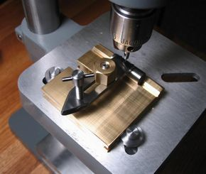 """Small drill press """"Fingerplate"""" for watchmaking and clockmaking.  Very practical shop addition for this work."""