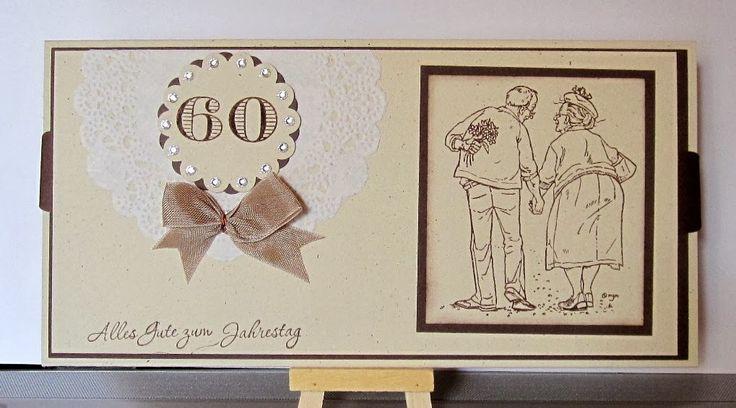 Wir würden von einem benachbarten Ehepaar zur diamantenen Hochzeit eingeladen und so ganz ohne alles wollten wir nun auch nicht hin. ...