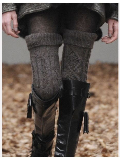 Thigh High Socks, Knee High Boots by DepecheMe, Bitte on Indulgy.com. All