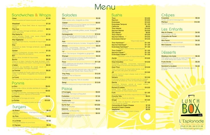 Square Cafe Sushi Menu