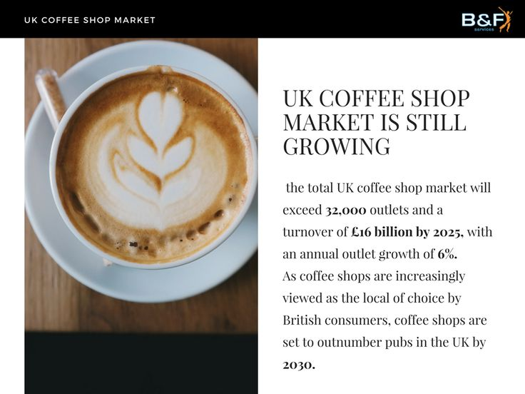 The UK branded coffee shop segment is forecast to reach 9,400 outlets to record over £6 billion annual revenue by 2021.